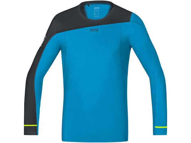 GORE WEAR R7 LS Shirt Men, dynamic cyan/black